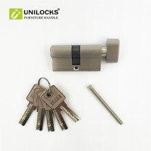 Купить с кэшбэком Pure copper thickening single open door lock core is 60 mm cylinder for 35 to 45mm thick door