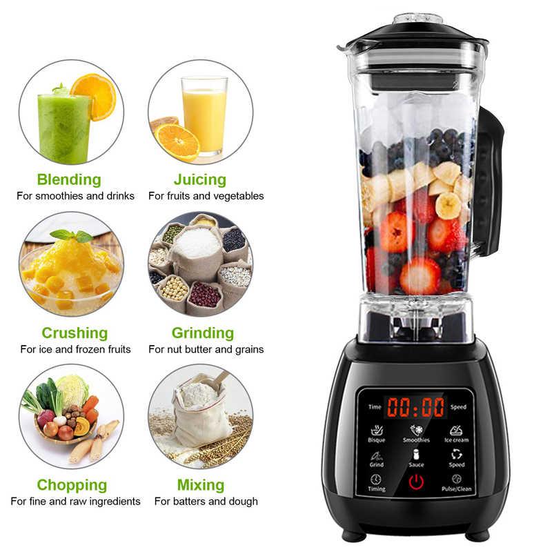 BPA FREE Digital Touchpad 3HP Preset Automatic Program 2200W Heavy Duty Power Blender Mixer Juicer Food Processor Smoothie Fruit