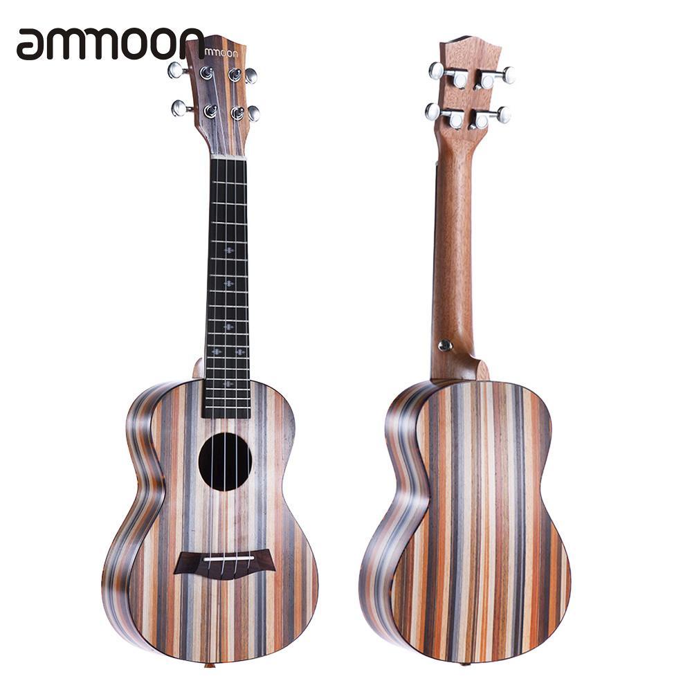 Ukulele Amicable Good Quality Ammoon 24 Acoustic Wooden Soprano Ukulele Ukelele Uke 18 Frets 4 Strings Okoume Neck Rosewood Fingerboard Strong Resistance To Heat And Hard Wearing