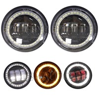 1 Pair 4 5 Led Halo Fog Light 4 5 Inch With DRL Turn Signal Light