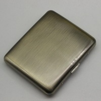 Exquisite Bronze Wire Drawing 20 Metal Iron Clip Gift Box Cigarette Case