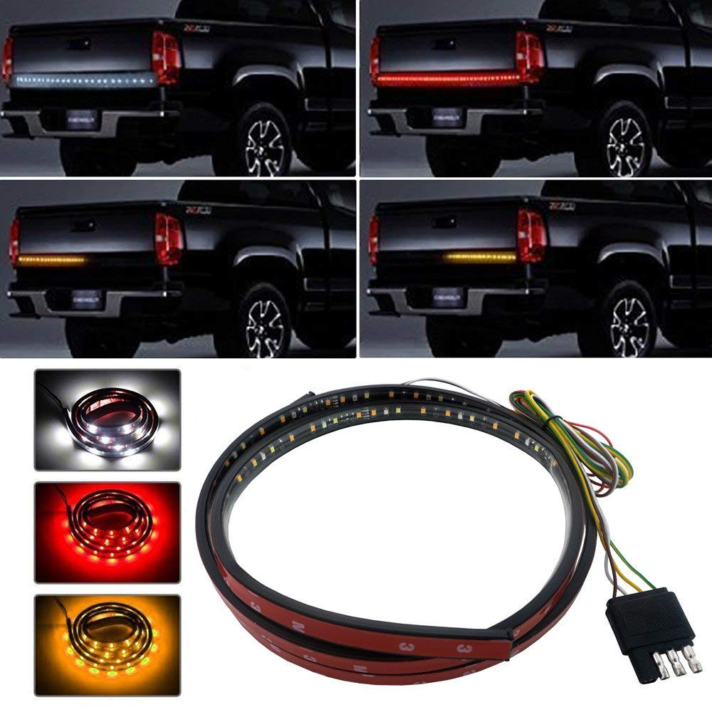 tailgate led strip,tailgate turn signal strip, 120cm/150cm Flexible Waterproof truck lights led 12v autoprofi чехол на рулевое колесо замша черно синий sp 5026 m bk bl