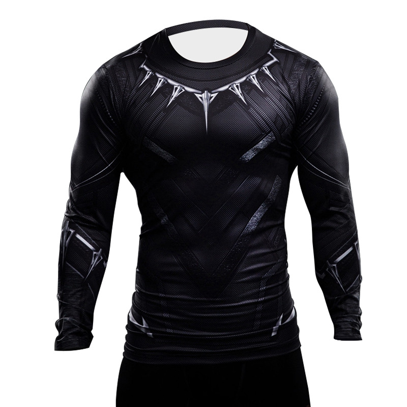 black panther t shirt 3d printed men shirt captain america