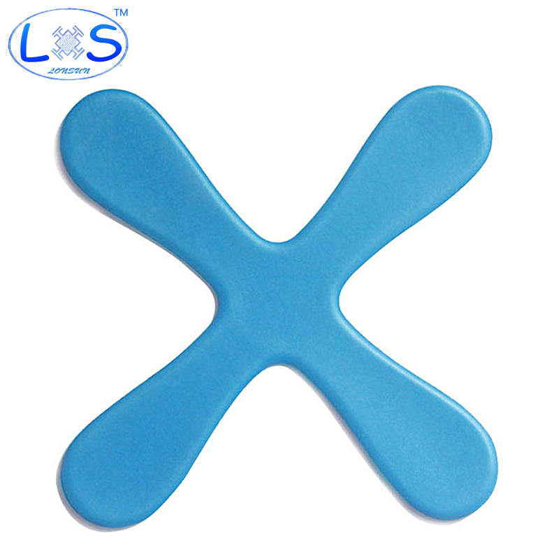 (LONSUN)Outdoor Sport Boomerang Security Soft Material Toy Amusing Physical Exercise Parent-child Movement Boomerang