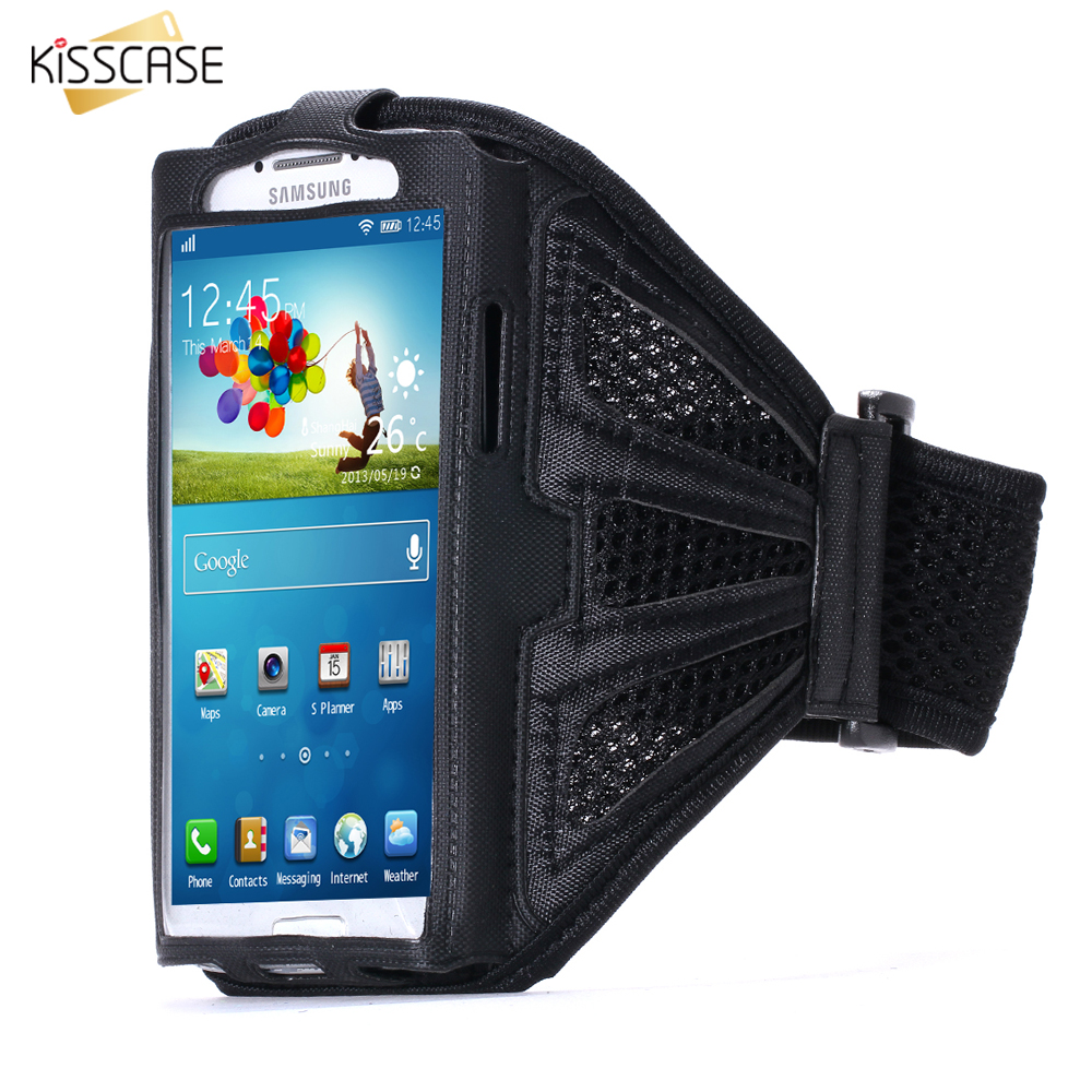 KISSCASE Fashion Outdoor Sport Gym Arm Band Running Phone Case For Samsung Galaxy S6 Edge S7 S5 S4 S3 A3 A5 J1 J2 J3 J5 Cover