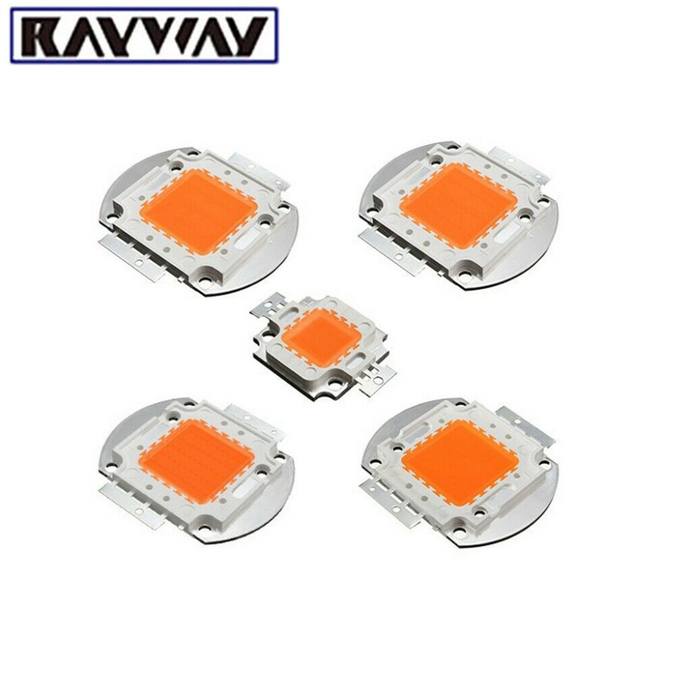 RAYWAY Full Spectrum 400-850nm COB Plants Grow Light Chip 10W - 100W Led Flowering Hydroponic Growing Beads Chips Grow Lamp LED