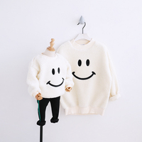 HT2252 whinter Girl Clothes Mother&Daughter Sweatshirt Parent child Costume Family Match Outfits Kids Plus thick velvet Hoodies