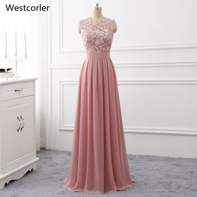 2018 Hot Wedding Guest Dresses Long Purple Lace Bridesmaid For Floor Length