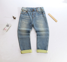 2018 Baby Cotton Full Jeans Pants Newborn Solid Mid Casual Spring Autumn Pants Long Infants Elastic Waist Pockets Boy Trousers lemonmiyu long infants boy trousers elastic waist cotton baby jeans full length pants newborn cartoon mid casual spring pants