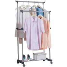 Adjustable Clothes Rail 78cm Display Rack Coat Stand Free Standing Wheel Garment DQ0056A