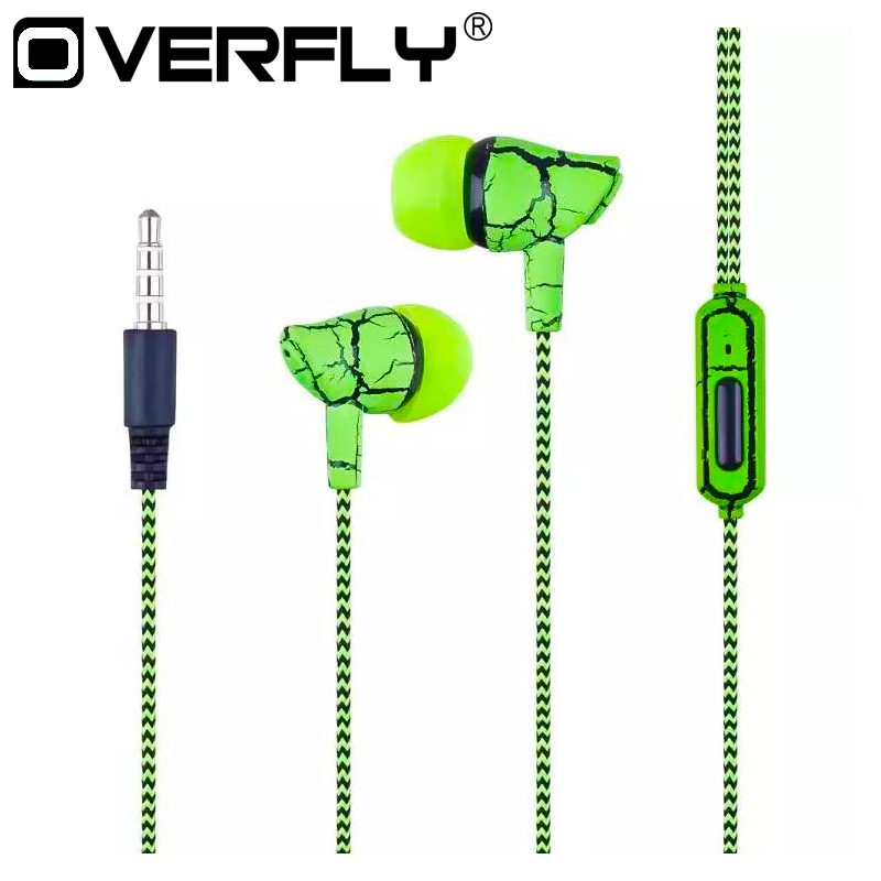 Overfly 3.5mm Jack Earphone Wired Headset Super Bass Earphone Earbud with Microphone Hands Free Headphone for Mobile Phone MP3 super bass headphone stereo headset wired with microphone and volume control lightweight foldable earphone for iphone xiaomi mp3