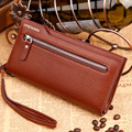 Stylish Detachable Wristlet Men Clutch Long Zipper Wallets Hot Sale Portable Cash Purses Card Collector Bifold Wallet Handy Bag