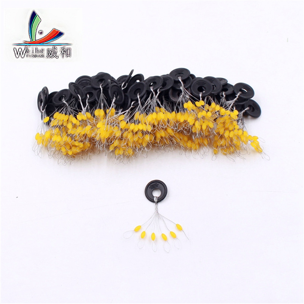 120Pcs 20Set High Quality Yellow Oval Space Bean Floating Seat Pin Libra Spiner Connector Fishing Supplies Accessories Tools