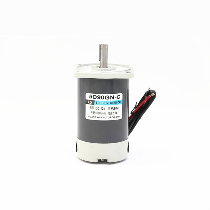 5D90GN-CC 90W PMDC motor 12V/24V High Speed DC Motor 1800 rpm 3000rpm Low Noise Adjustable Speed Electric Machine CW/CCW5D90GN-CC 90W PMDC motor 12V/24V High Speed DC Motor 1800 rpm 3000rpm Low Noise Adjustable Speed Electric Machine CW/CCW
