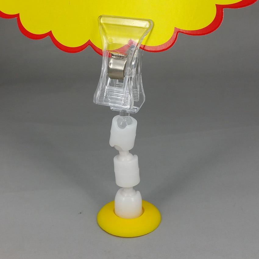 Base blanche ou jaune Dia.28mm POP porte carte en plastique étiquette de prix Clips de Promotion H85mm pour 50 pcs d'affichage de magasin de détail-in Clips from Fournitures scolaires et de bureau on AliExpress - 11.11_Double 11_Singles' Day 1