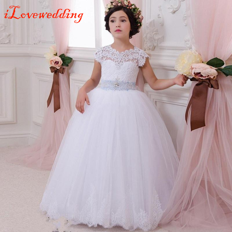 Ilovewedding Lace Flower Girl Dress For Weddings First Communion