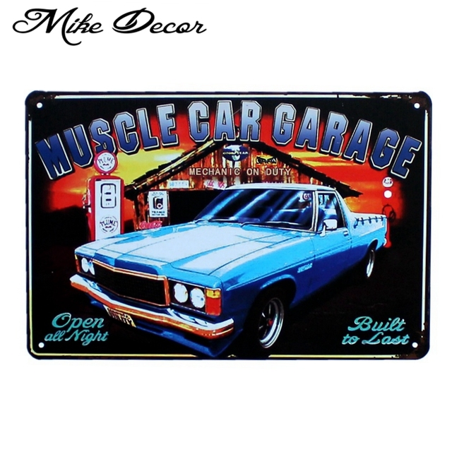 Mike86 Muscle Car Garage Metal Plaque Poster Room Mural Painting Antique Pub Home