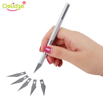 Delidge 1 Set Fruit Sculpting Gum Paste Carving Baking Pastry Tools For Cakes 6pcs Blades Knife Cake Decorating Tools