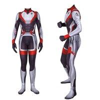 Avengers 4 Endgame Advanced Tech Cosplay Costume Zentai Bodysuit Jumpsuits Super Hero Quantum Realm Bodycon One Piece Suit