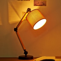 A1 The NEW Loft Study Lamps Creative Personality Table Lamp Reading The Original American Linen Wooden