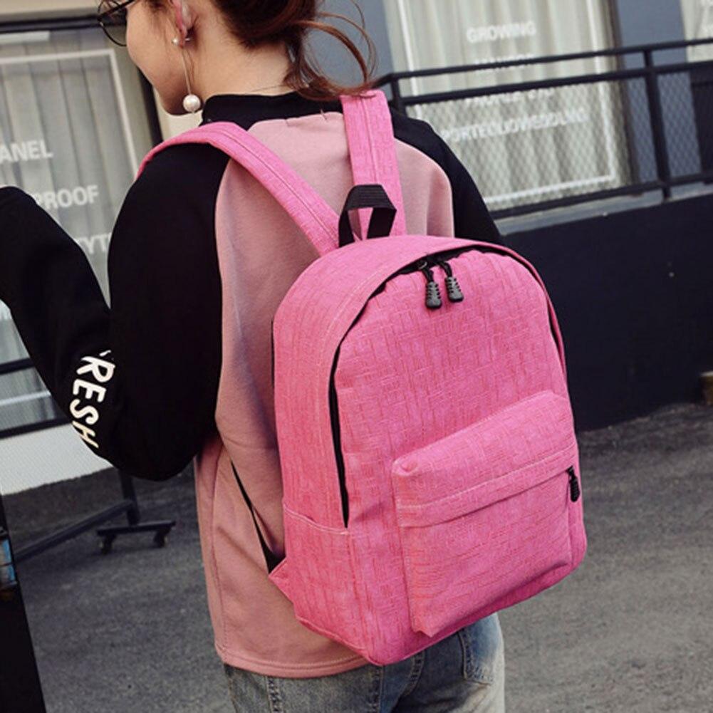 Unisex Canvas Laptop Backpack External USB Charge Computer Backpacks Teenager Student School Bag