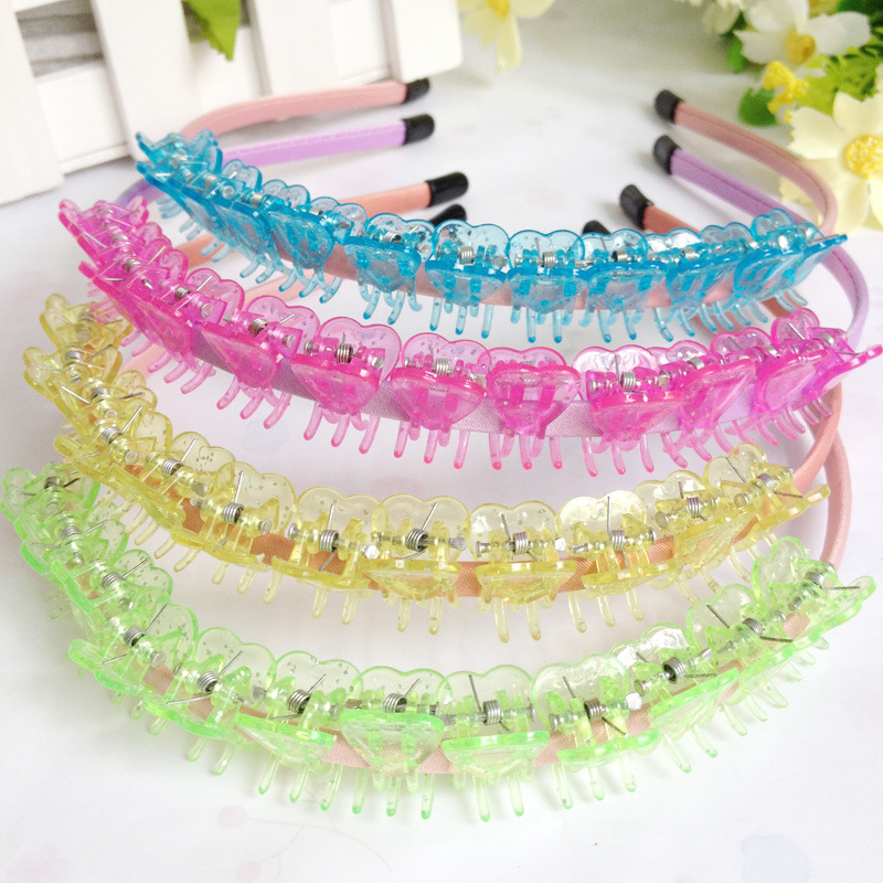 Korean Cute Kids Hair Clip Mini Claw Hair Accessories Solid Princess Girls Candy Love Clear Hair Claws Plastic Hairgrips 24Pcs in Hair Accessories from Mother Kids