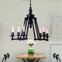 A1 Retro Black Dining Pendant Creative Personality 6 Head Arm Lamp Industrial Coffee Shop New Factory