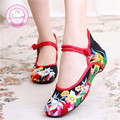 Fashion New Casual Chinese Style Women's Embroidery Soft Sole Old Peking National Single Shoes Women
