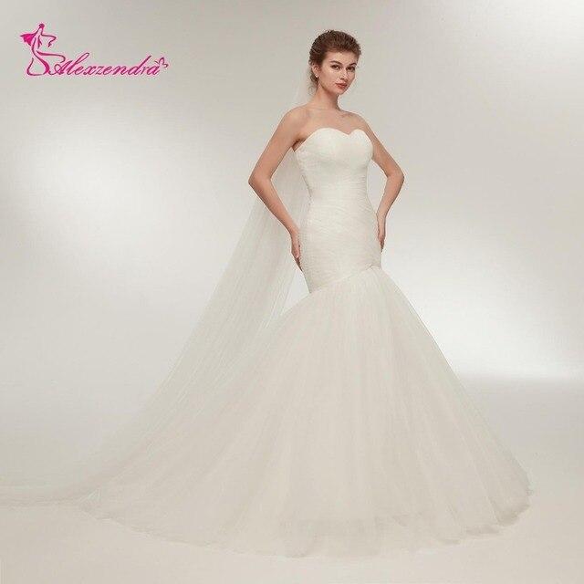 Alexzendra Stock Dresses Cheap Mermaid Wedding Dress Simple Tulle ...