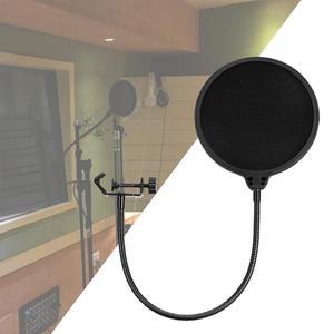 Image 3 - Flexibele Mic Wind Screen Pop Filter Draagbare Studio Opname Spreken Zingen Condensator Microfoon Filter Mount Masker