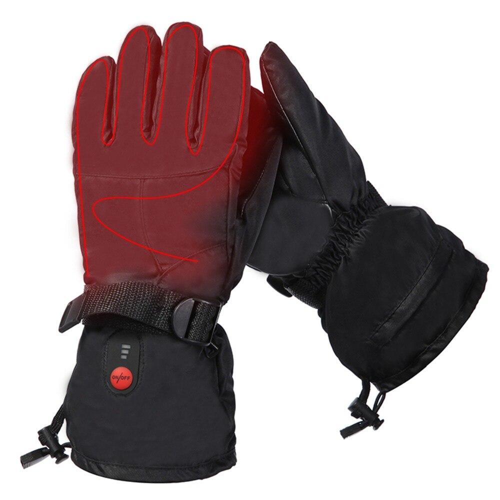 SALVATORE di Calore di Inverno antivento guanti riscaldati equitazione sci in microfibra resistente all'usura mano posteriore fibbia con elastico regolabile