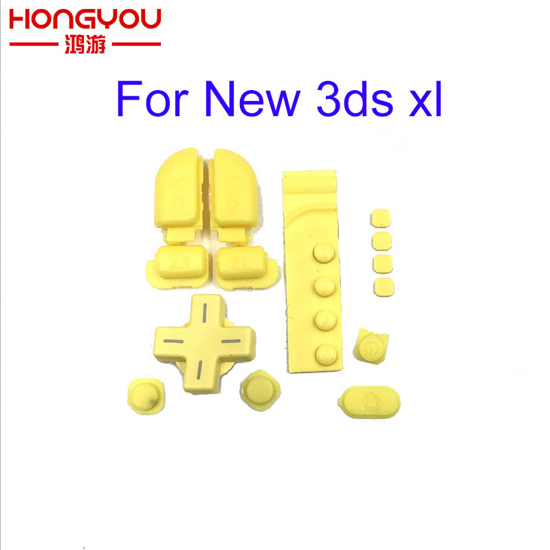 original yellow D PAD For Nintendo New 3DS XL LL Console L R Trigger Button Home Buttons Screws Cover keypad
