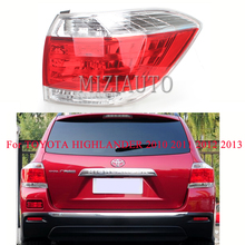 taillights For TOYOTA HIGHLANDER 2010 2011 2012 2013 Rear Tail Light Tail Stop Lamp Brake Light Rear Bumper Light turn signal car styling tail lights for toyota highlander 2012 2014 taillights led tail light rear lamp drl brake signal auto accessories