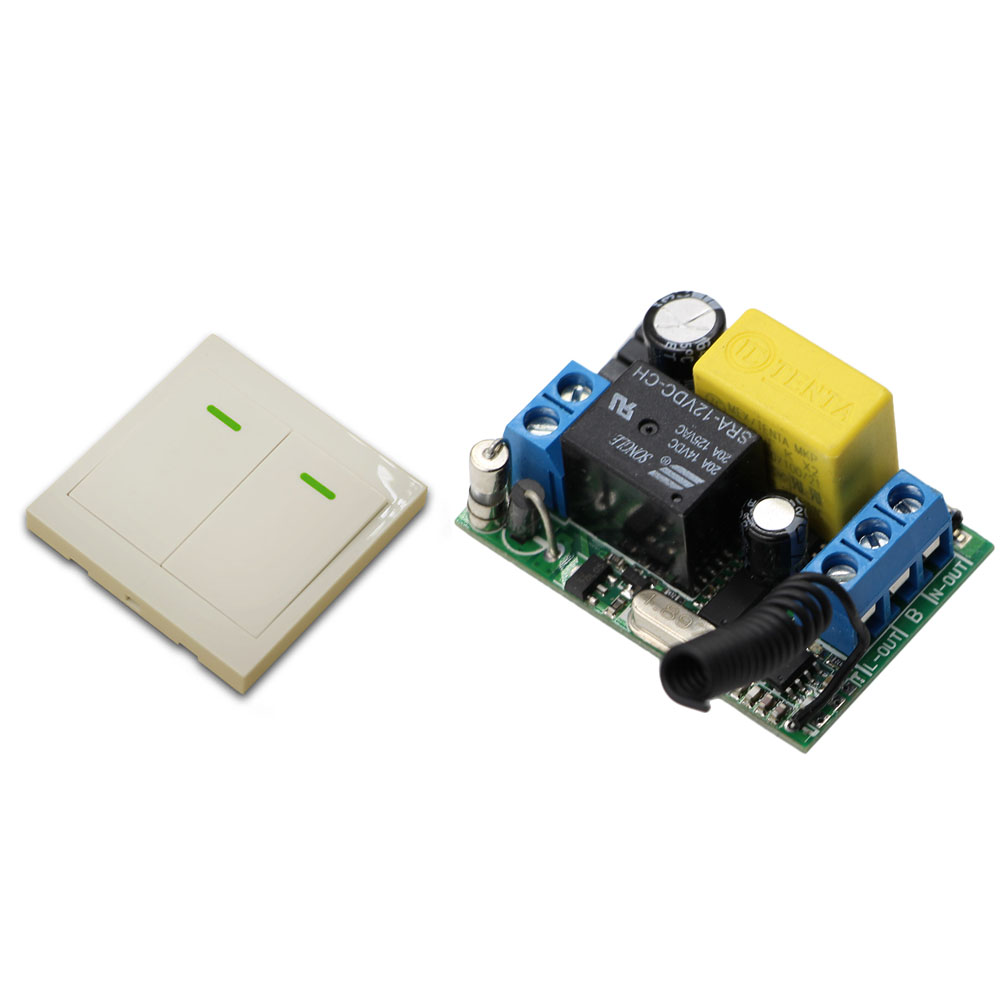 Newest AC 220 V 1 CH High and Stable Wireless Relay Remote Control Switch Receiver Board With Wall Remote Controller 315/433Mhz wireless pager system 433 92mhz wireless restaurant table buzzer with monitor and watch receiver 3 display 42 call button