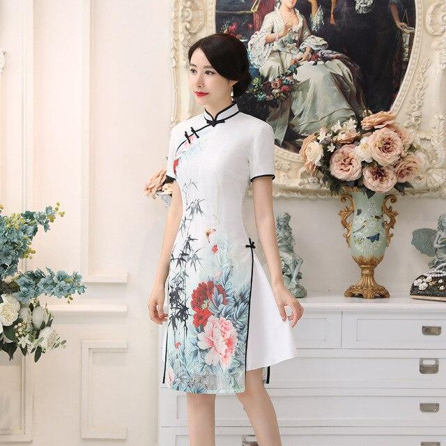 Neue Heiße Verkauf Engen Weißen Satin Vietnam Ao Dai Kleid ...