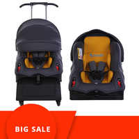 Sit on Stroll 5 In 1 Baby Car Seat Stroller Convertible Car Seat Foldable Multiple Stroller Travel Baby Stroller with Car Seat