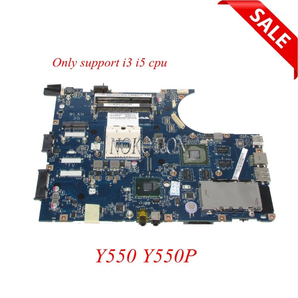 NOKOTION NIWBA LA-5371P Carte Mère D'ordinateur Portable pour Lenovo Y550 Y550P carte Principale HM55 seulement Soutien i3 i5 CPU plein testé