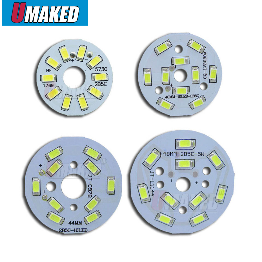 5W SMD5730 Brightness SMD Light Board Led Lamp Panel For Ceiling PCB With LED,Aluminum Plate Base With Smd Chip Free Shipping