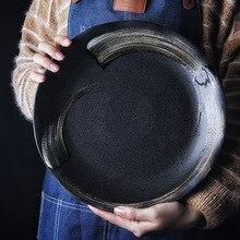 NIMITIME японский стиль домашнее блюдо для закусок блюдо круглый суп глубокая обеденная тарелка, столовая посуда