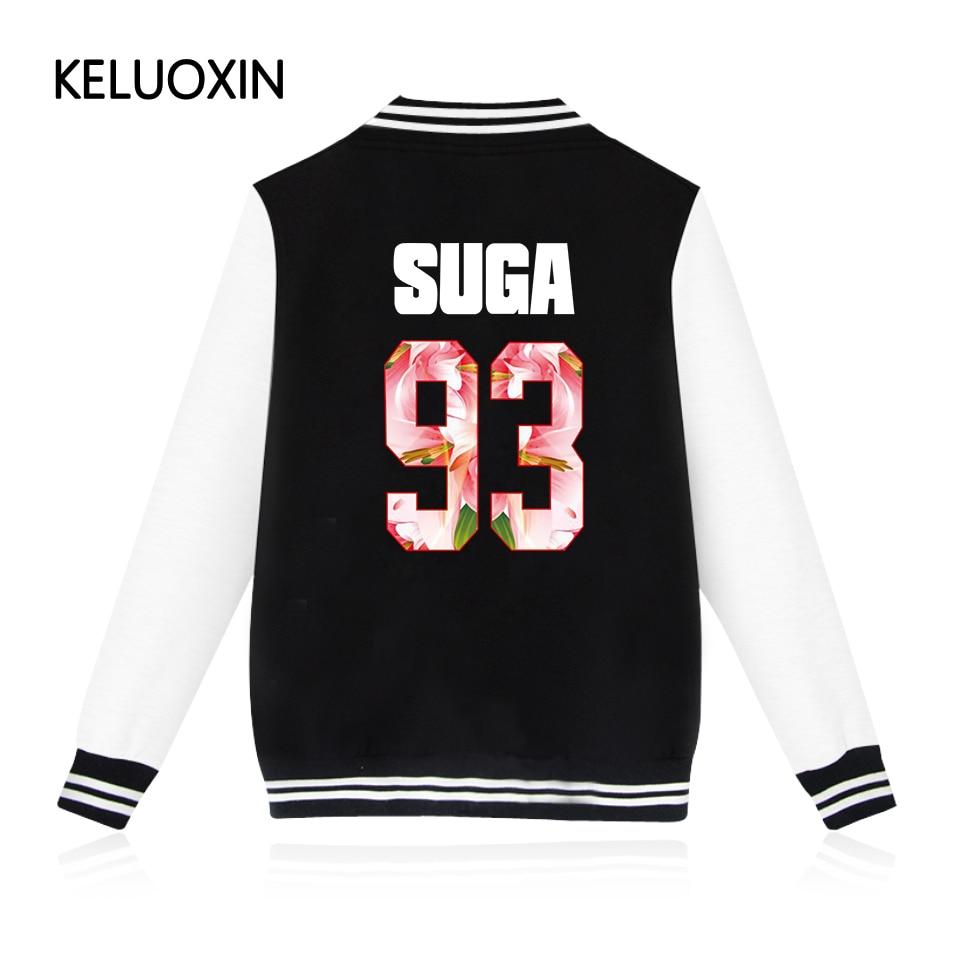 KELUOXIN 2017 New Arrivals EXO Kpop Zip-up Harajuku Hoodies Fans Supportive BTS Baseball Uniform Men Women Casual Sweatshirt 4XL