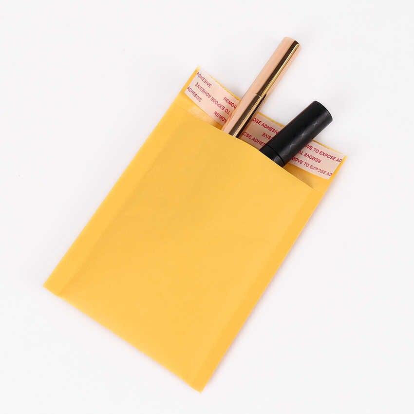 5 uds. De alta calidad amarillo Kraft Bubble bag110 * 130mm sobres acolchados bolsa de envío auto sello material de oficina comercial