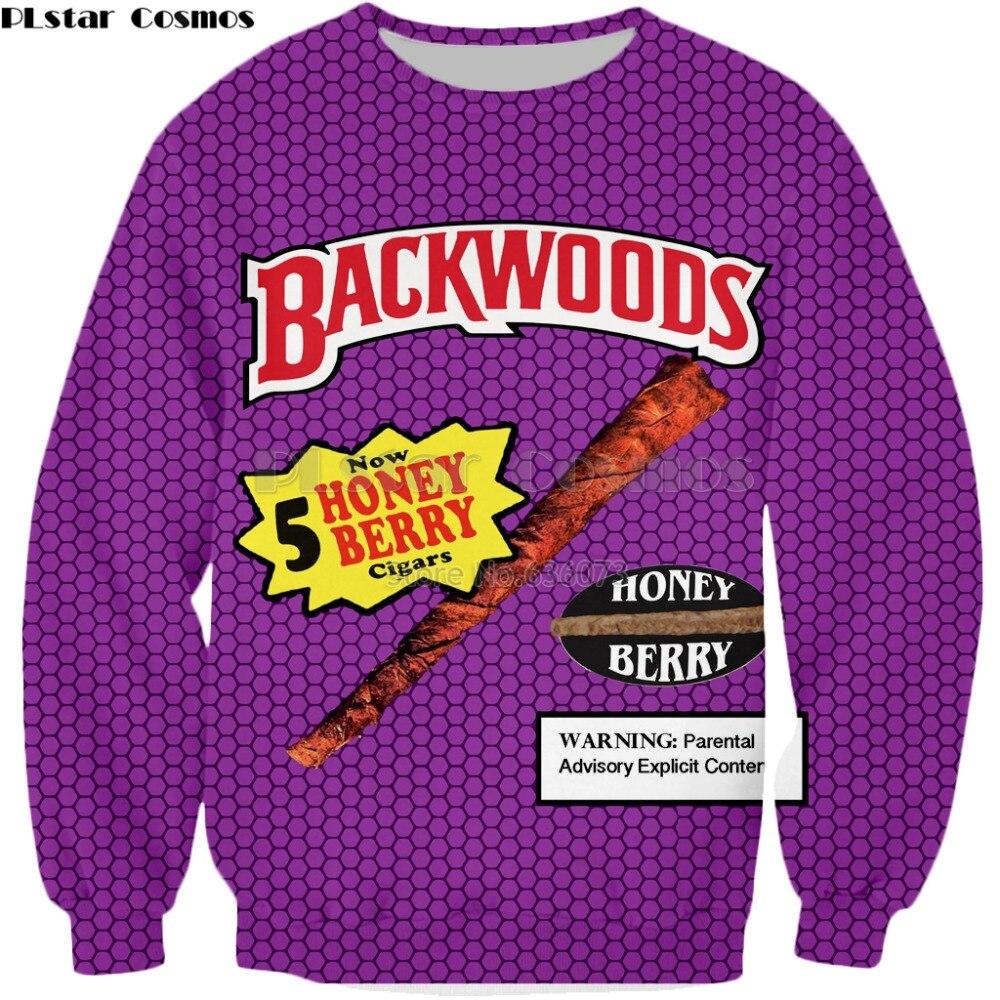 Hoodies & Sweatshirts Plstar Cosmos 3d Print Backwoods Honey Berry Blunts Hoodies Women/men Casual Hoodie Funny Foods Streetwear Unisex Pullover Tops