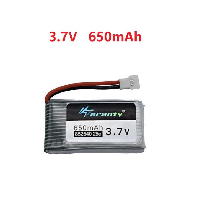 3,7 V batería lipo de 650mAh para Syma X5 X5C X5C-1 X5SC X5SW X6SW H9D H5C M68 FY550 HJ818 HJ819 L15FW 3,7 V Drone RC de la batería 1 Uds