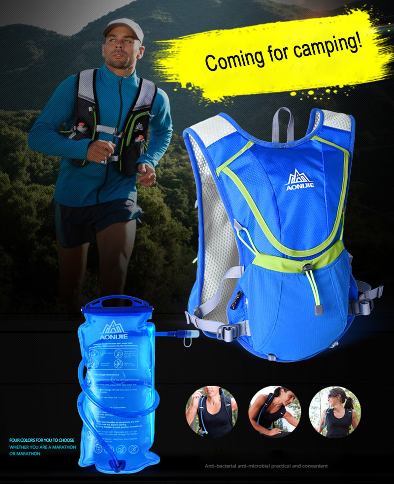 AONIJIE Outdoor Camping Water Bottle Pouch Survival Military Drinking Bag Hiking Camelback mochila hydration Backpack Water Bag