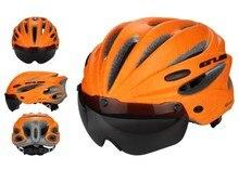 2016 GUB Cycling Helmet Ultralight Integrally-molded MTB Road Bike Helmet Goggles Helmet with Magnetic UV Visor bicycle helmet