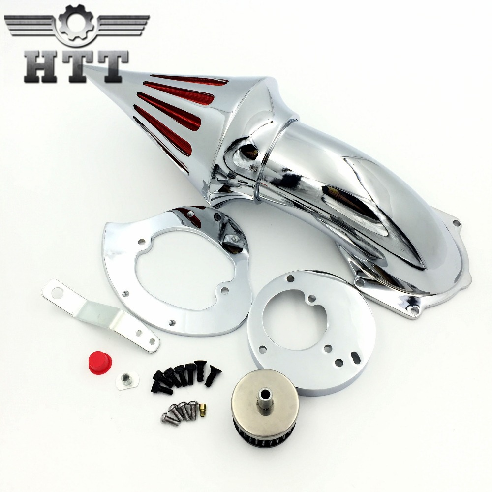 Aftermarket free shipping motorcycle parts Spike Air Cleaner intake filter for Honda VTX1300 VTX CHROMED chrome spike air cleaner kits intake filter case for honda vtx 1800 2002 2009
