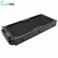 240mm water cooling radiator for Chip CPU GPU VGA RAM Laser cooling cooler Aluminum Heat Exchanger