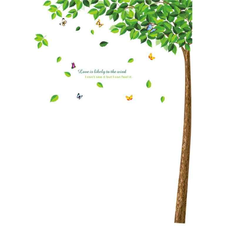 الأخضر شجرة ملصقات جدار الشارات DIY ملصق ملصقات المنزل التلفزيون خلفية الشارات الفتيات النساء الفن جدارية خلفيات ديكور غرفة نوم