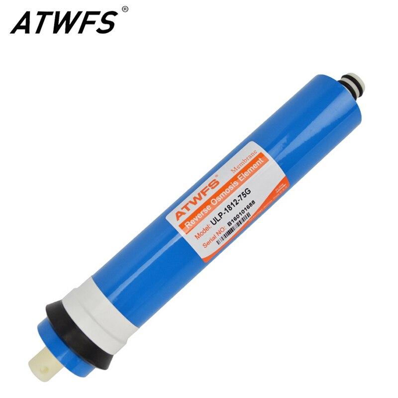 Atwfs Haute Qualité 75gpd Ro Membrane Système D'osmose Inverse Filtre à Eau Général Commun Membrane Ulp-1812-75g Frissons Et Douleurs