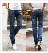 Free Shipping ! New Jeans Men Fashion Brand 2015 designer jeans classic denim Jeans straight leg blue Men's Trousers EW356